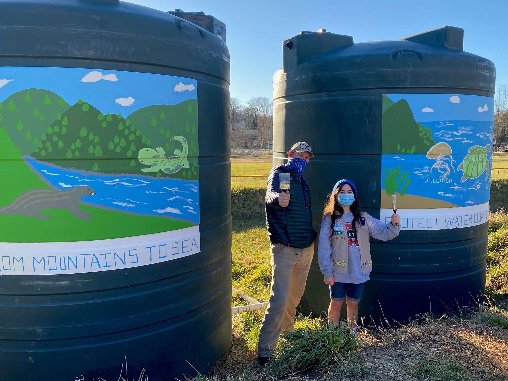 girl scout environmental conservation mural