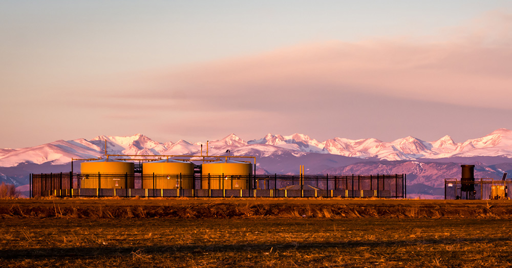 An oil field in Colorado.