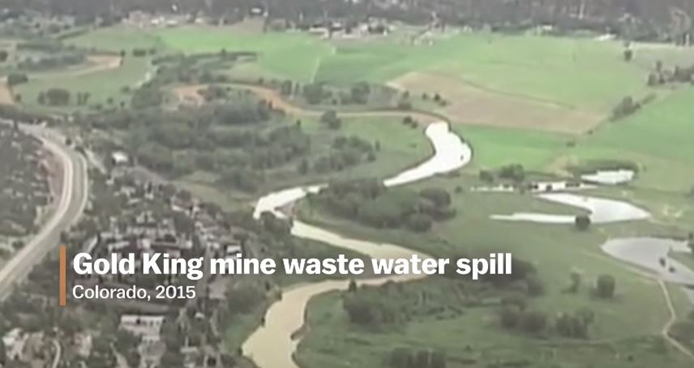 Acid mine drainage can lead to disastrous spills.