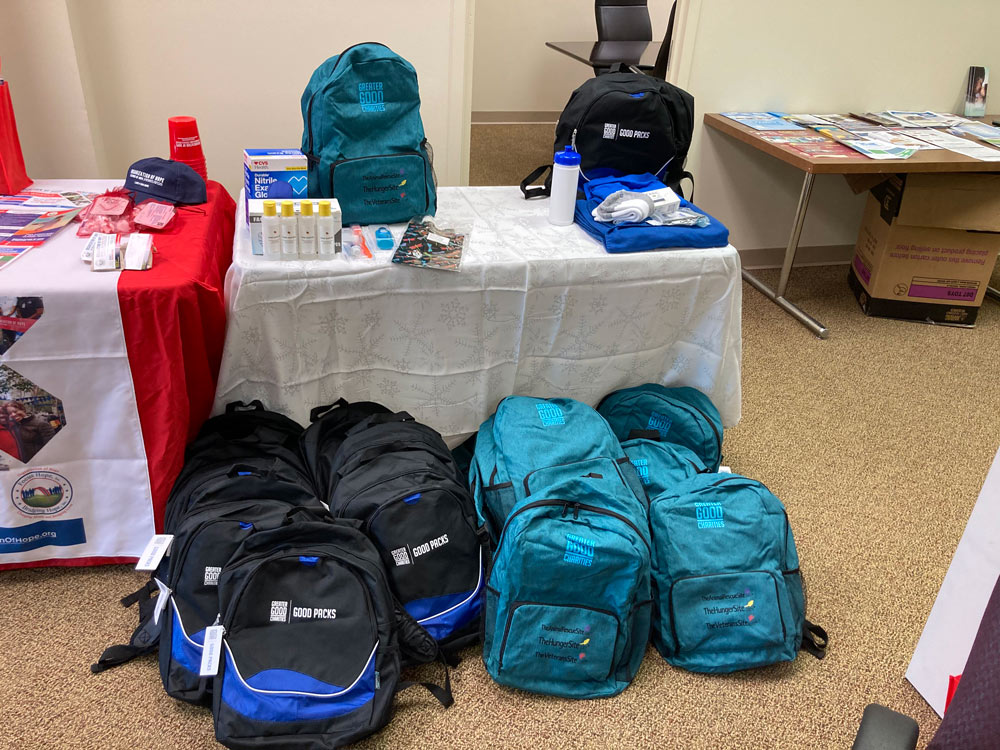 Good Packs at a Veteran Event at Kirstin Health & Wellness.