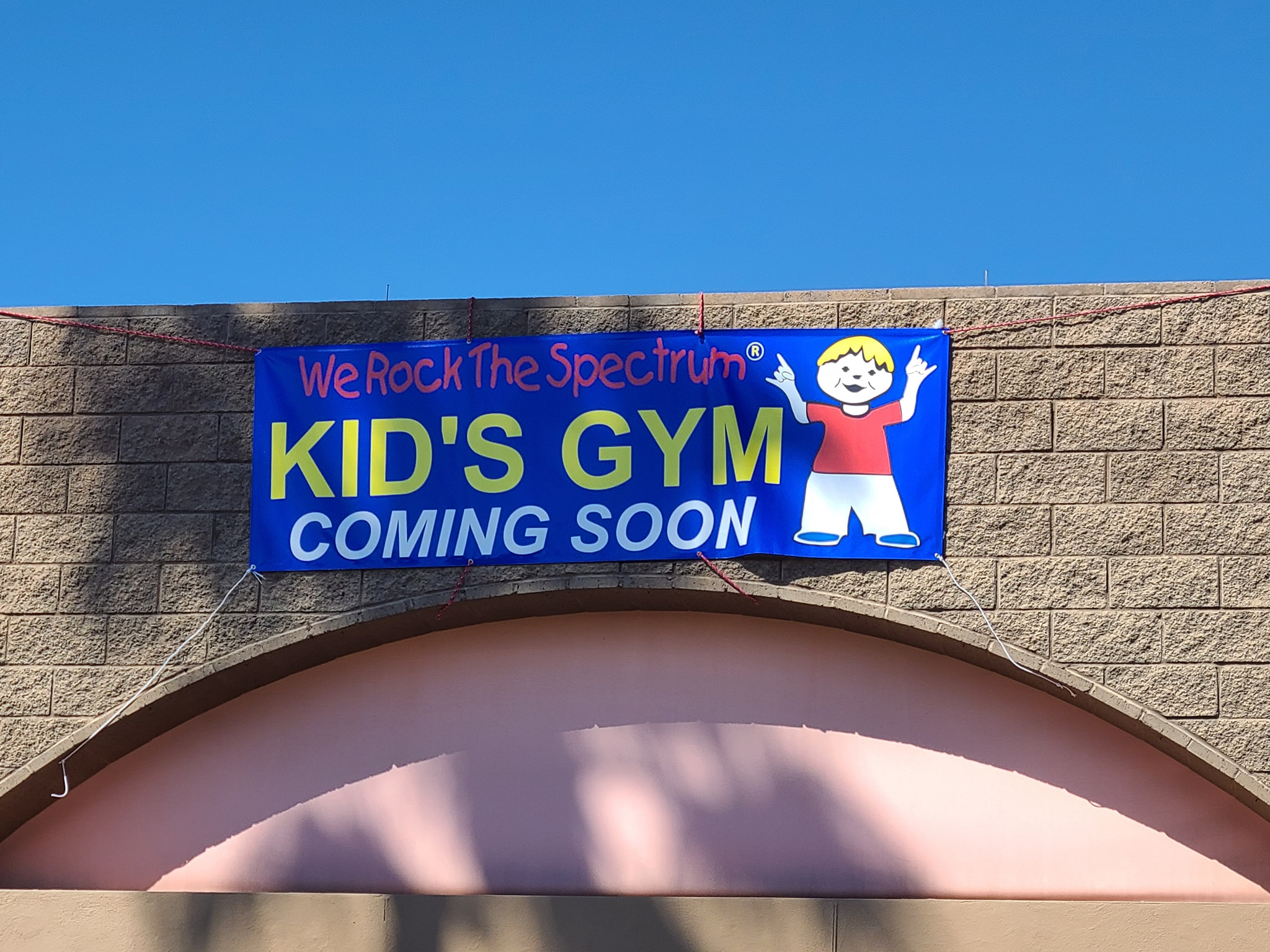 coming soon sign on special needs gym