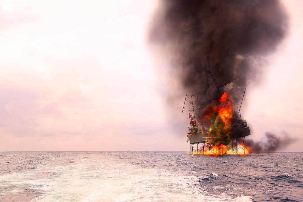 Some aging oil rigs in the Gulf are in dire need of repairs.