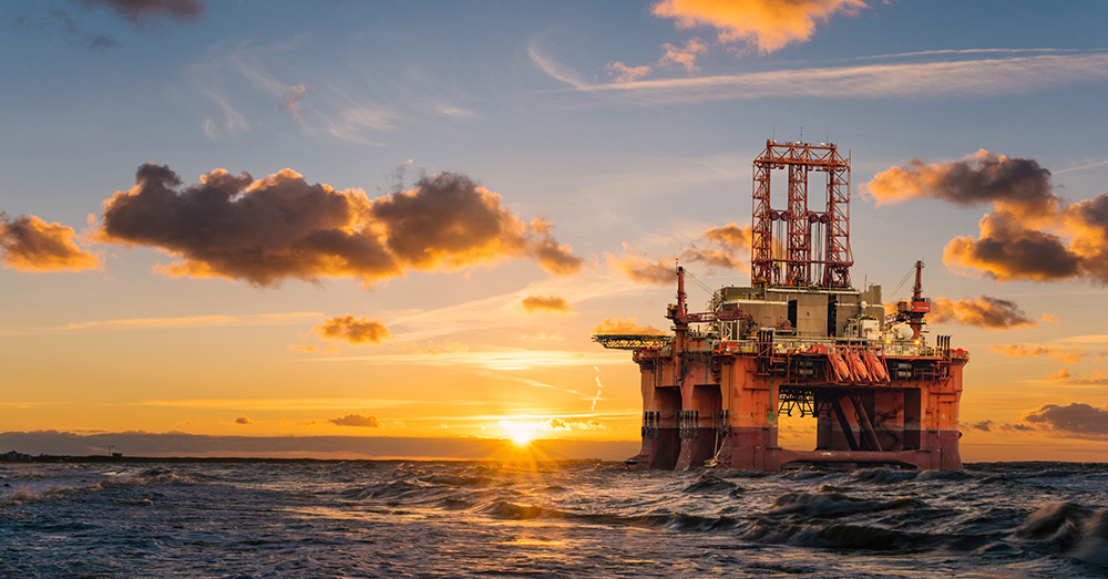 Decommissioning an oil rig is a costly and labor-intensive process.