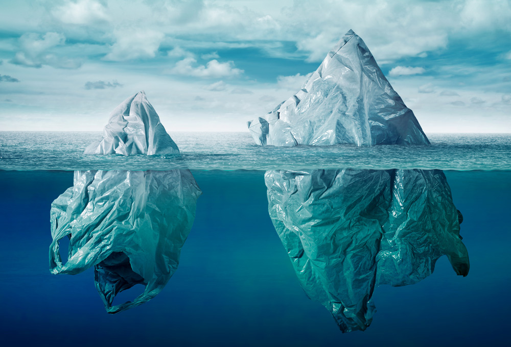There are about 8 billion pounds of plastic in the world's oceans.