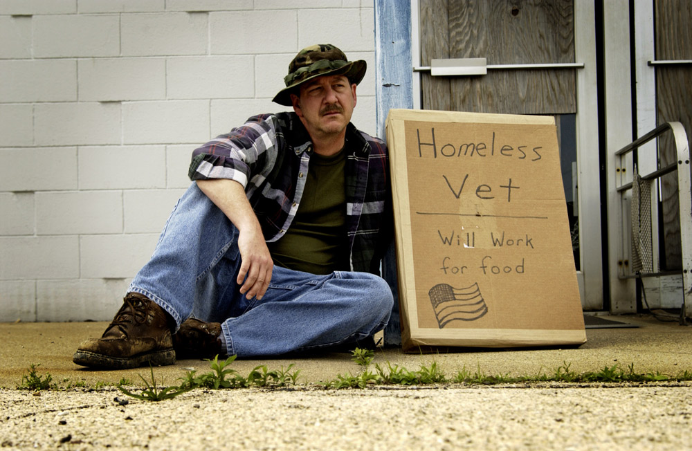 More than 40,000 veterans are homeless in the U.S. on any given night.