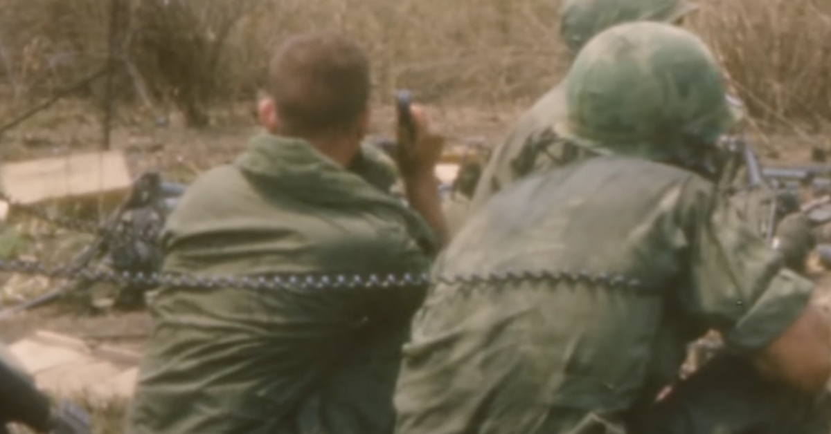 Source: YouTube/ AARP A Marine Corps officer and his radioman were exceptionally close in Vietnam.