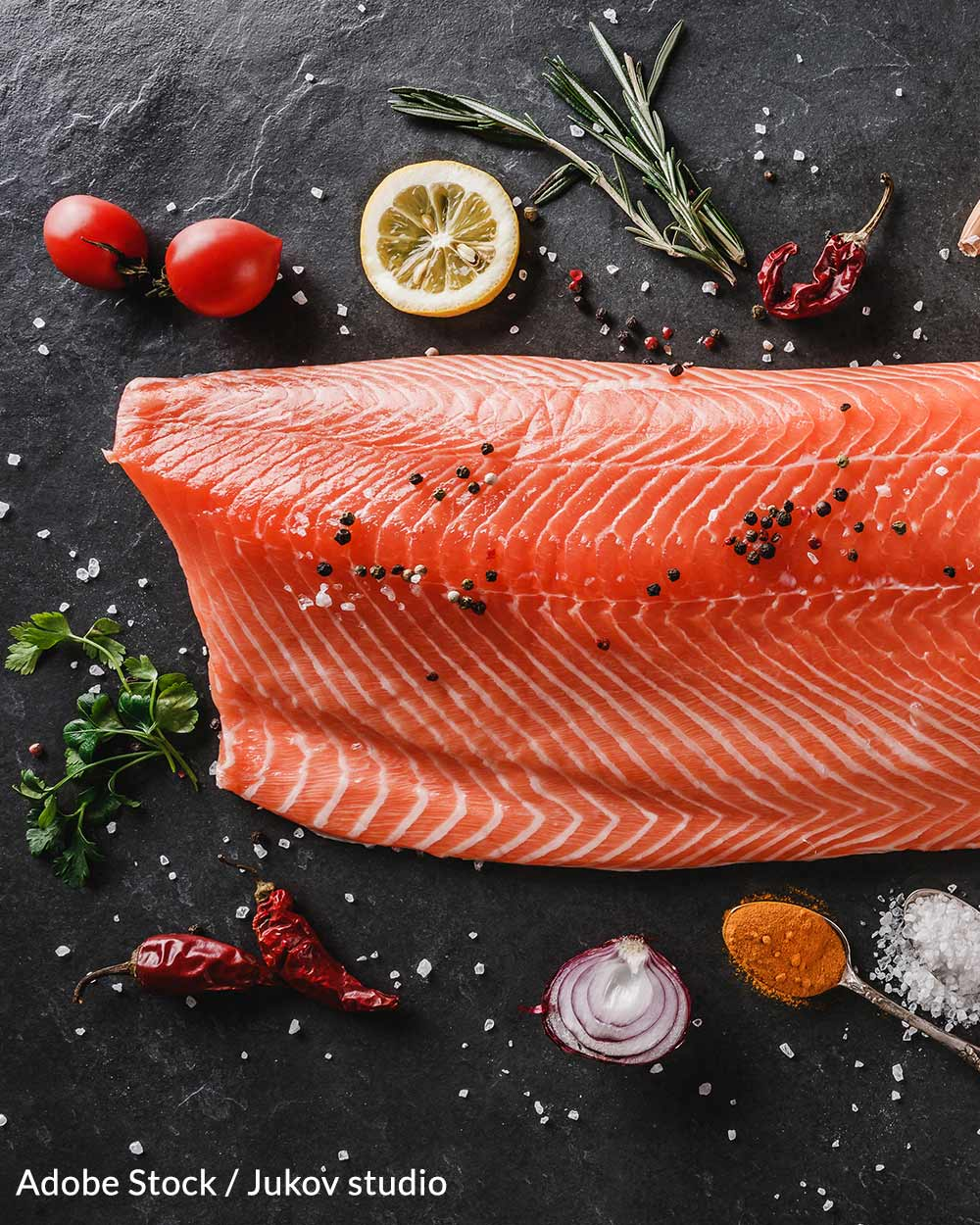 Genetically engineered salmon is grown to be sold as food.