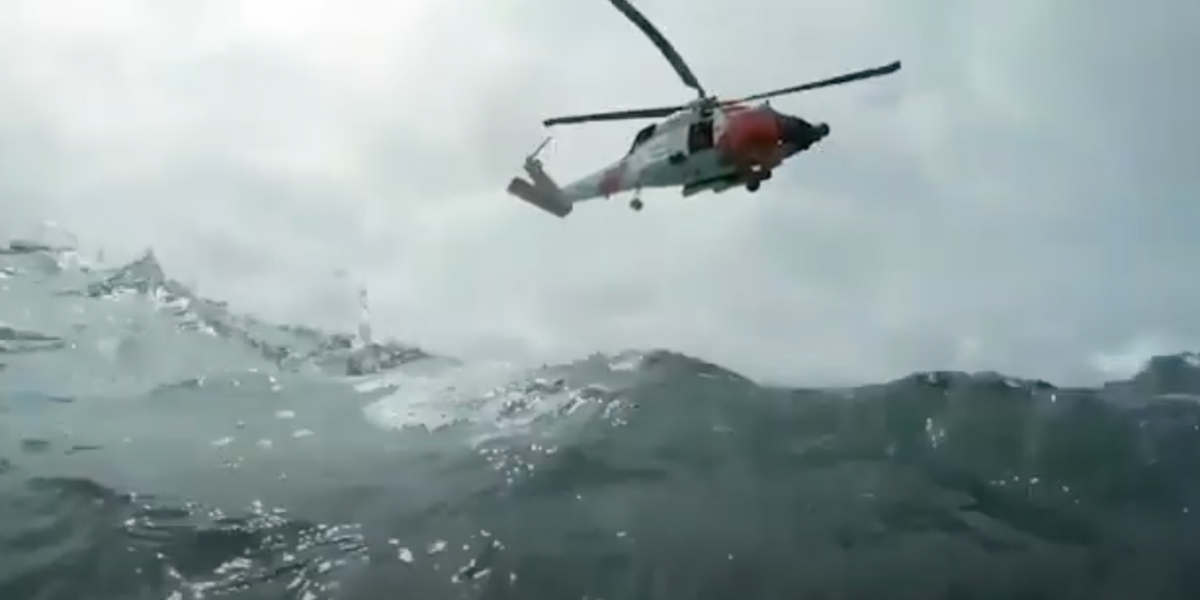 The Coast Guard performs rescues at sea.