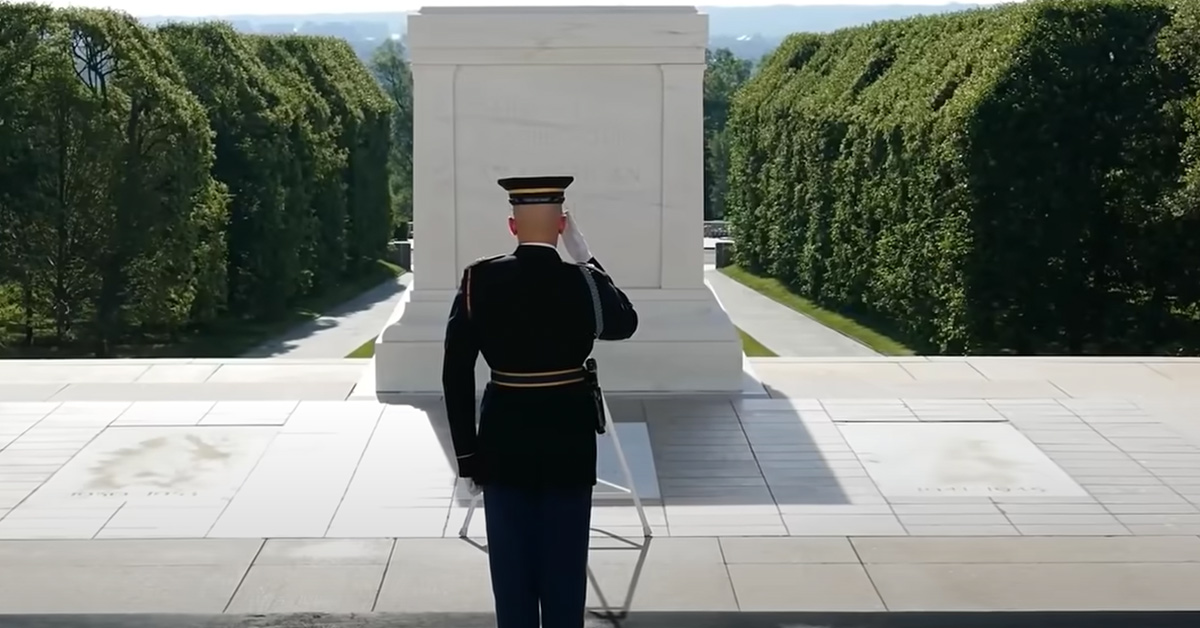 This tomb has been guarded with honor for a century and counting.