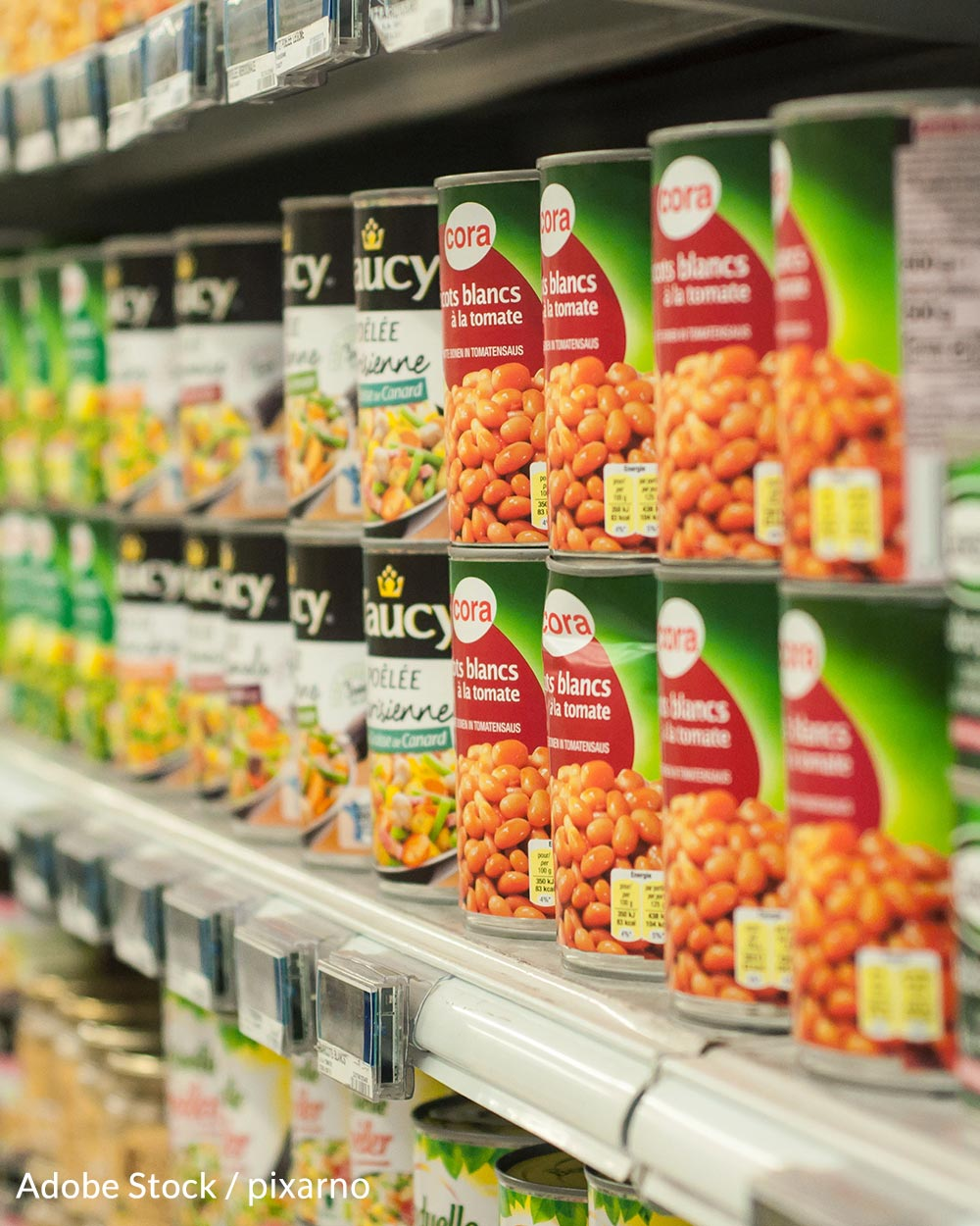 Canned foods are also commonly lined with BPA.