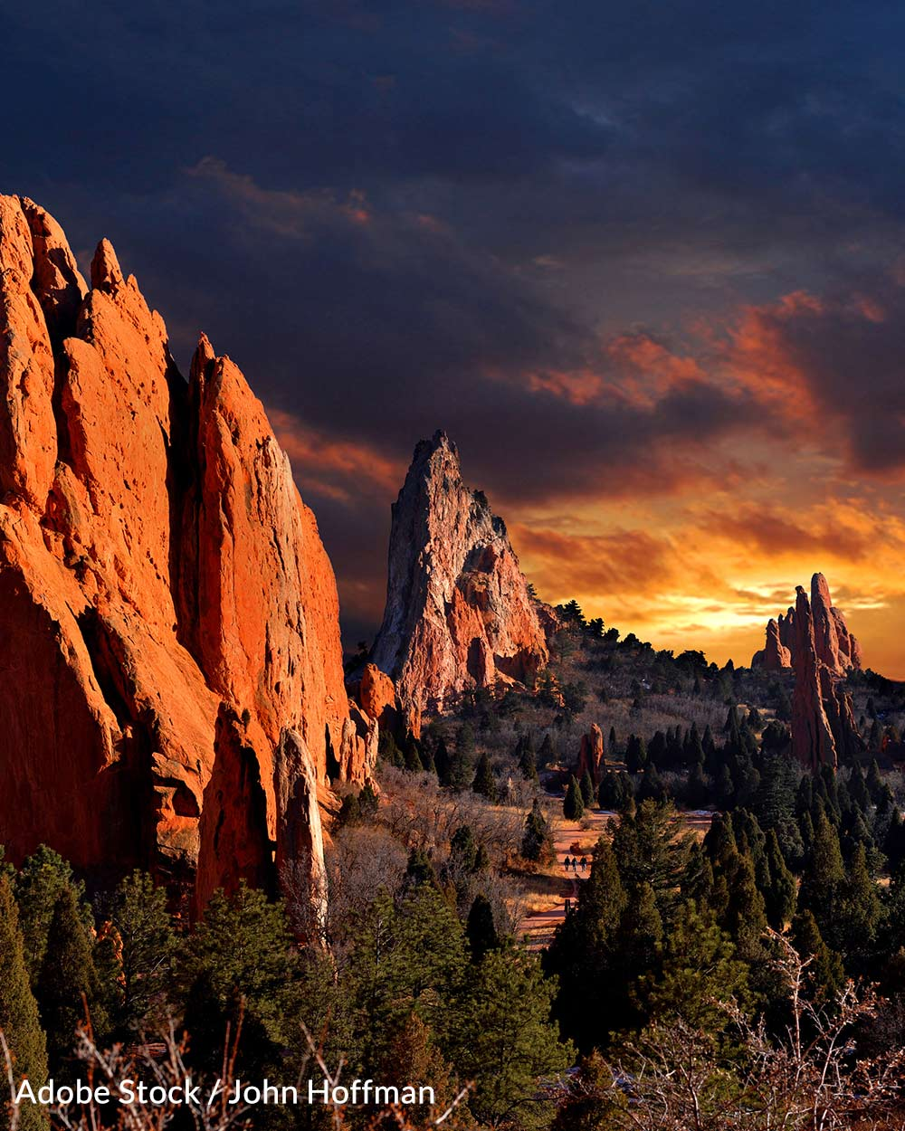 The red rocks landscape in Utah has remained untouched by human development for millions of years.