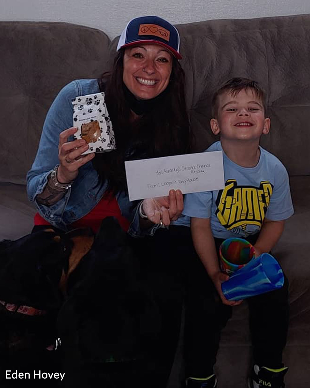 Logan and his mother Eden have raised thousands for their local rescues.