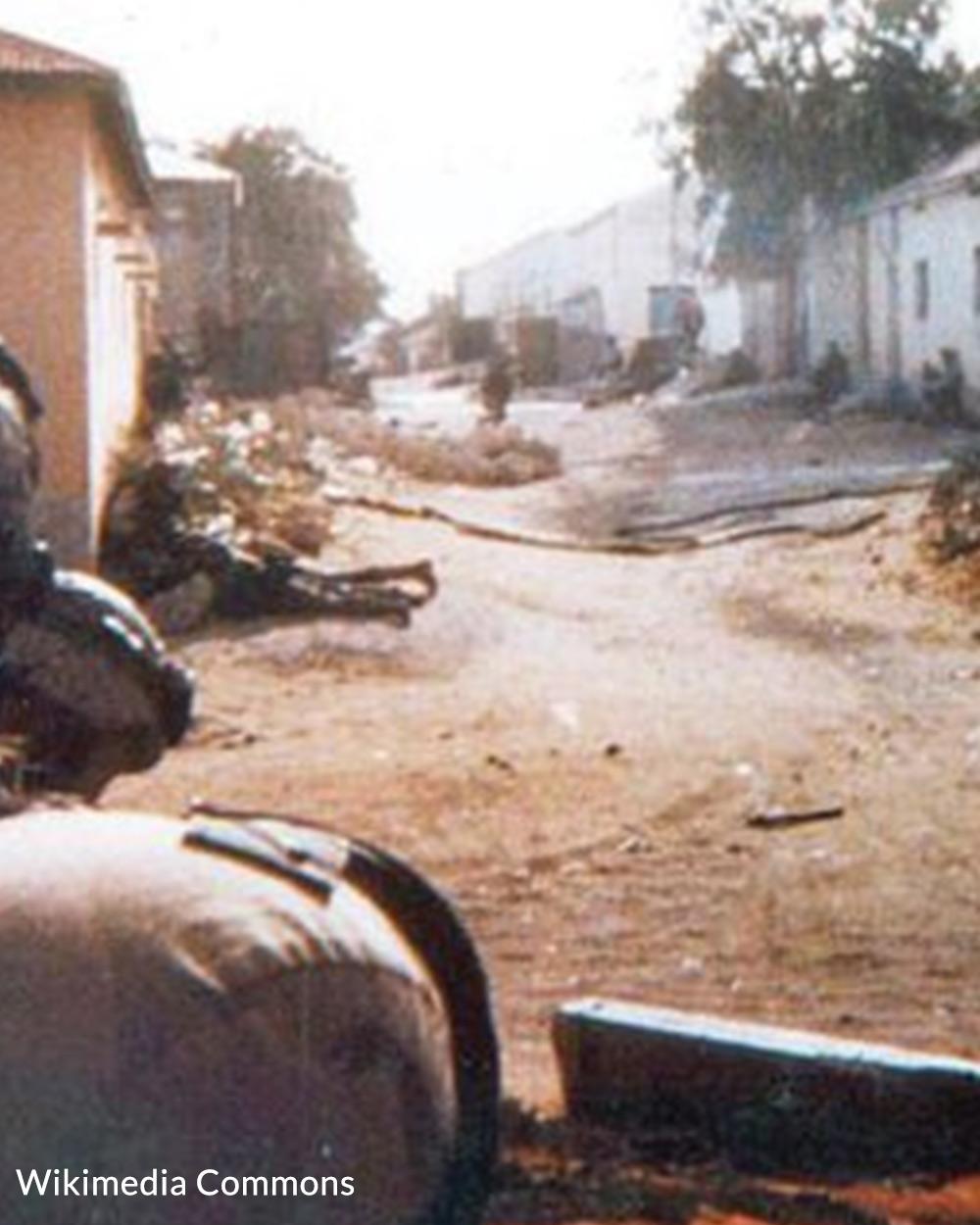 Members of Task Force Ranger under fire in Somalia.