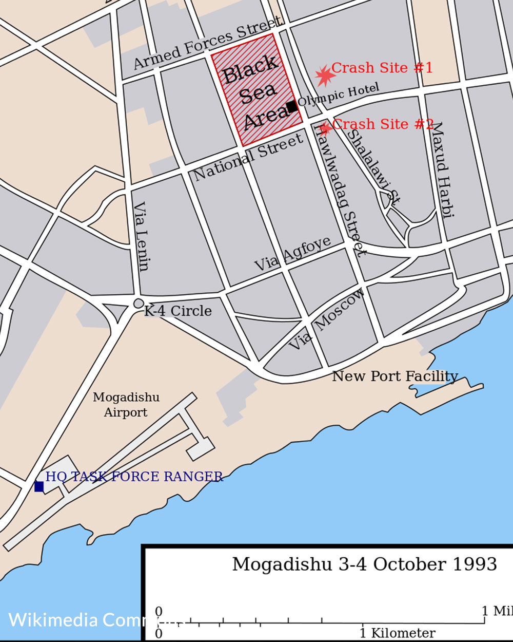 A map of the conflict zone.
