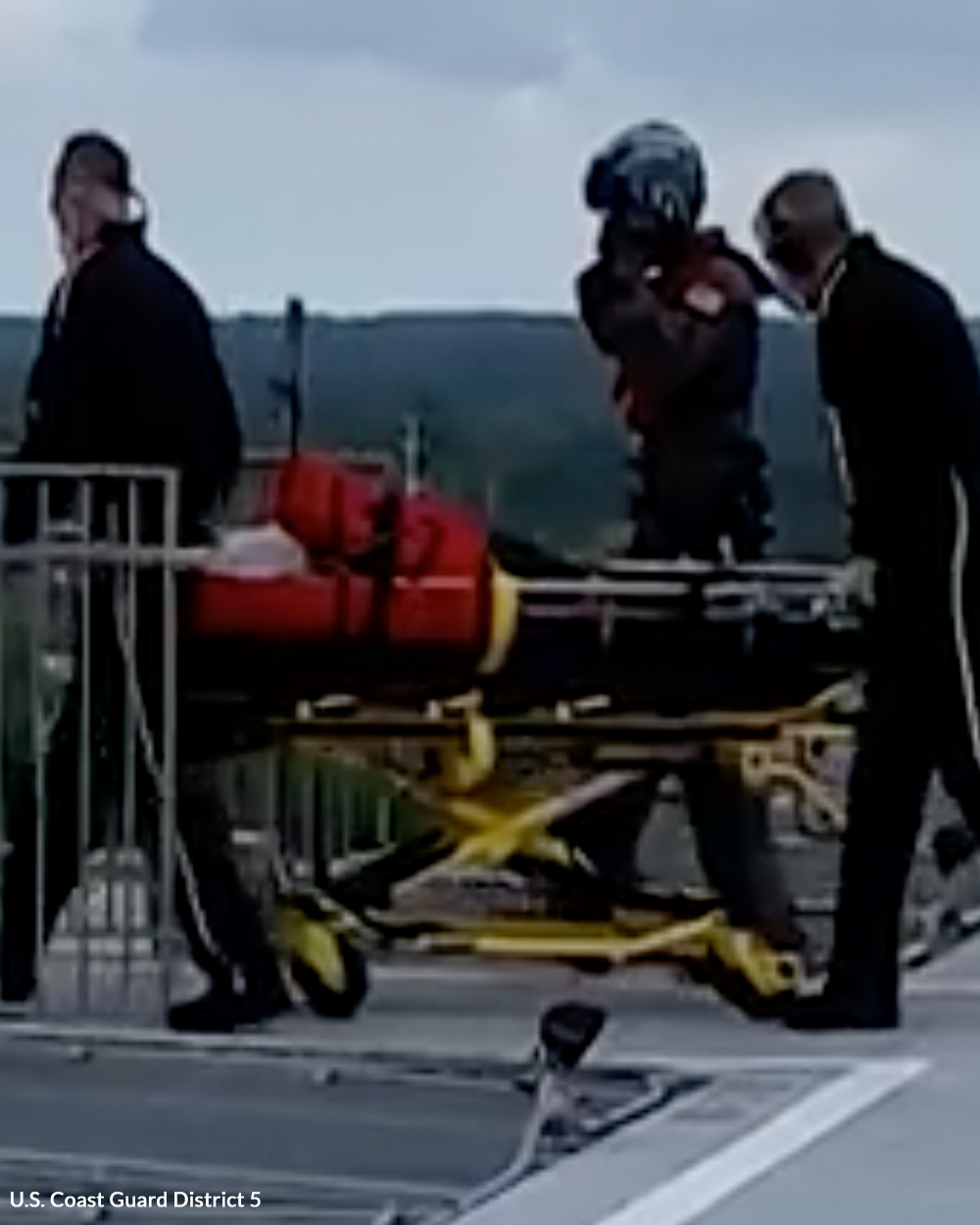 This patient has a chance of survival thanks to the Coast Guard.