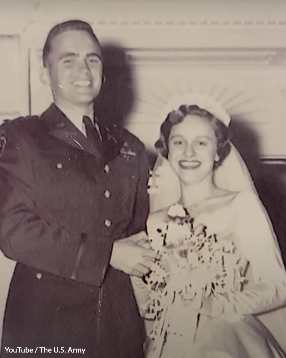 Puckett, Jr. and his wife after the war.