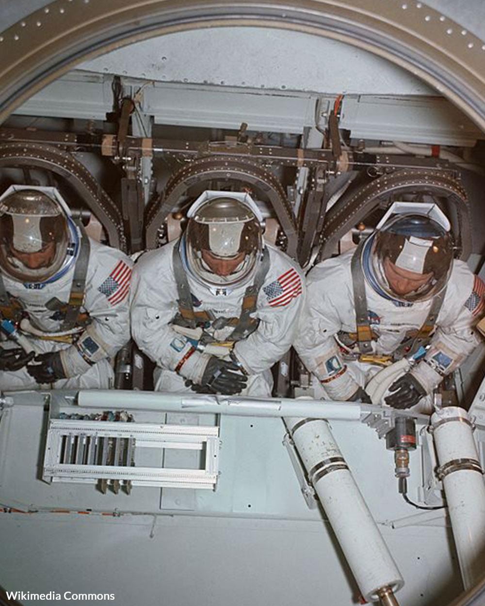 Apollo 8 crew in training.