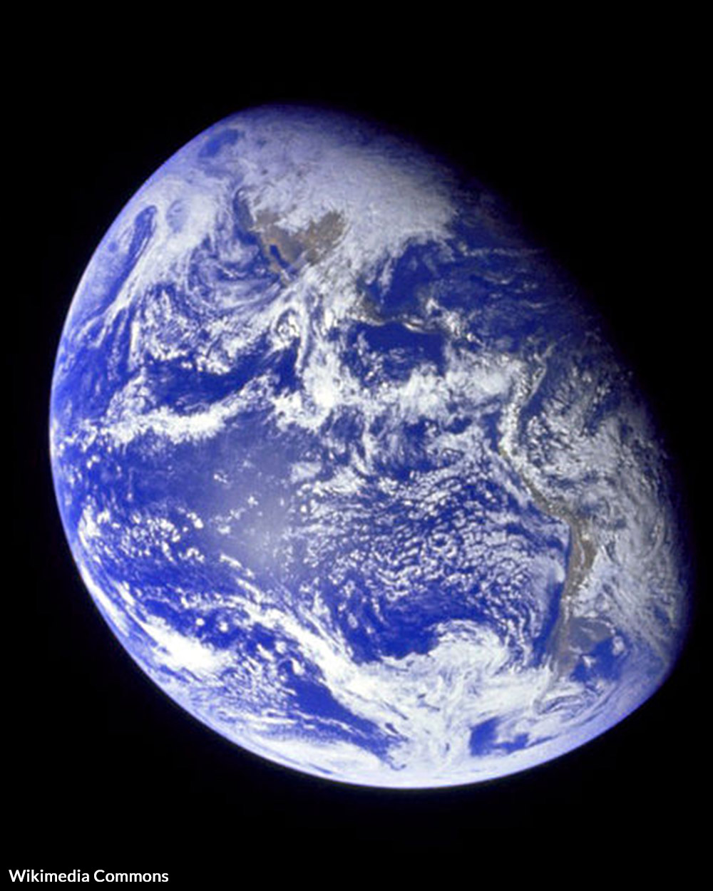 Earth as seen from space on the Apollo 8 mission.
