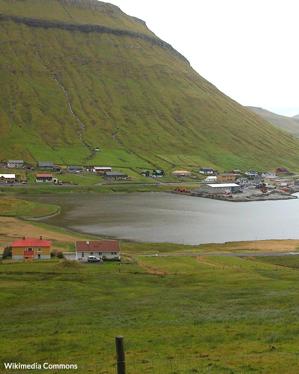 The Faroese rely on fishing and whaling for food.