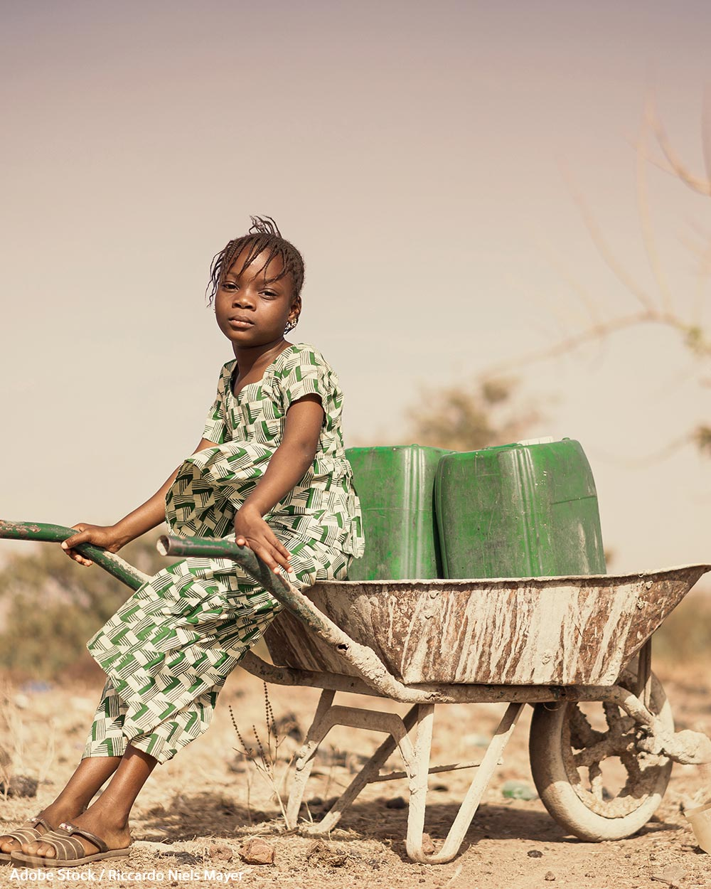 Global climate change is causing water shortages worldwide.