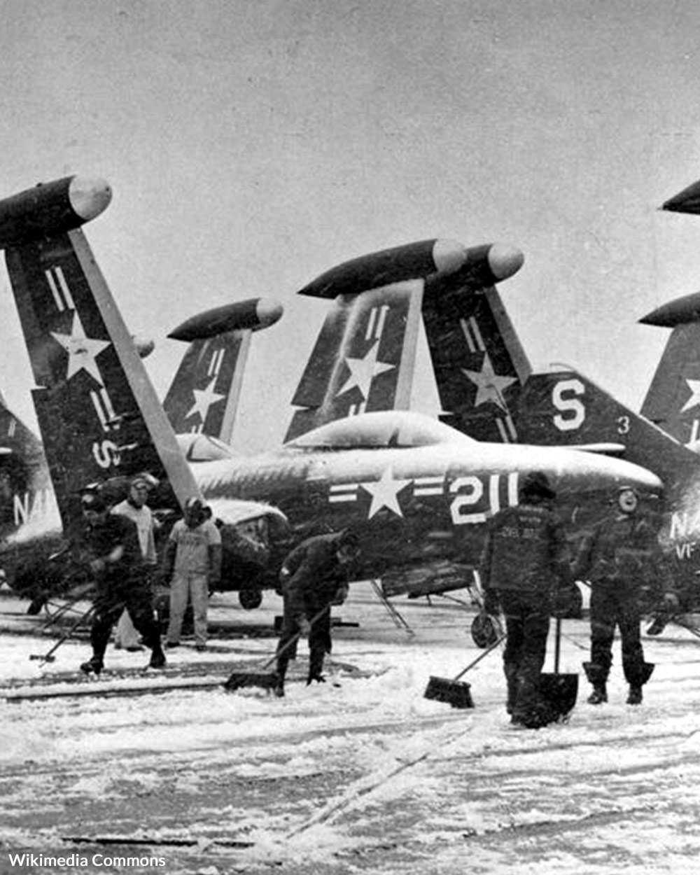 F9F-2 Panthers of VF-52 aboard USS Valley Forge (CV-45), circa 1951,