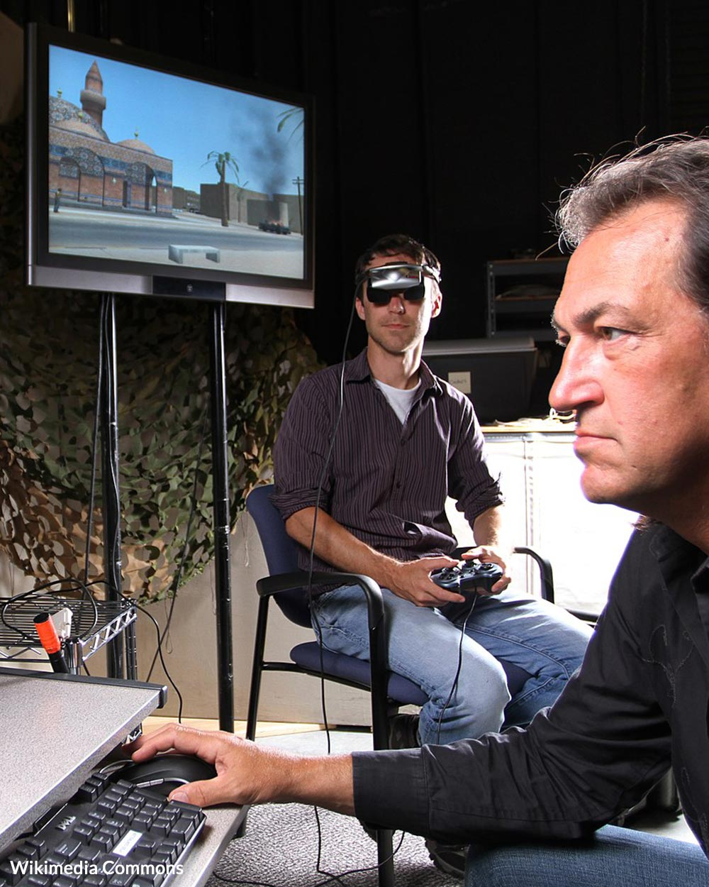Virtual reality treatment is one method of helping veterans overcome PTSD.