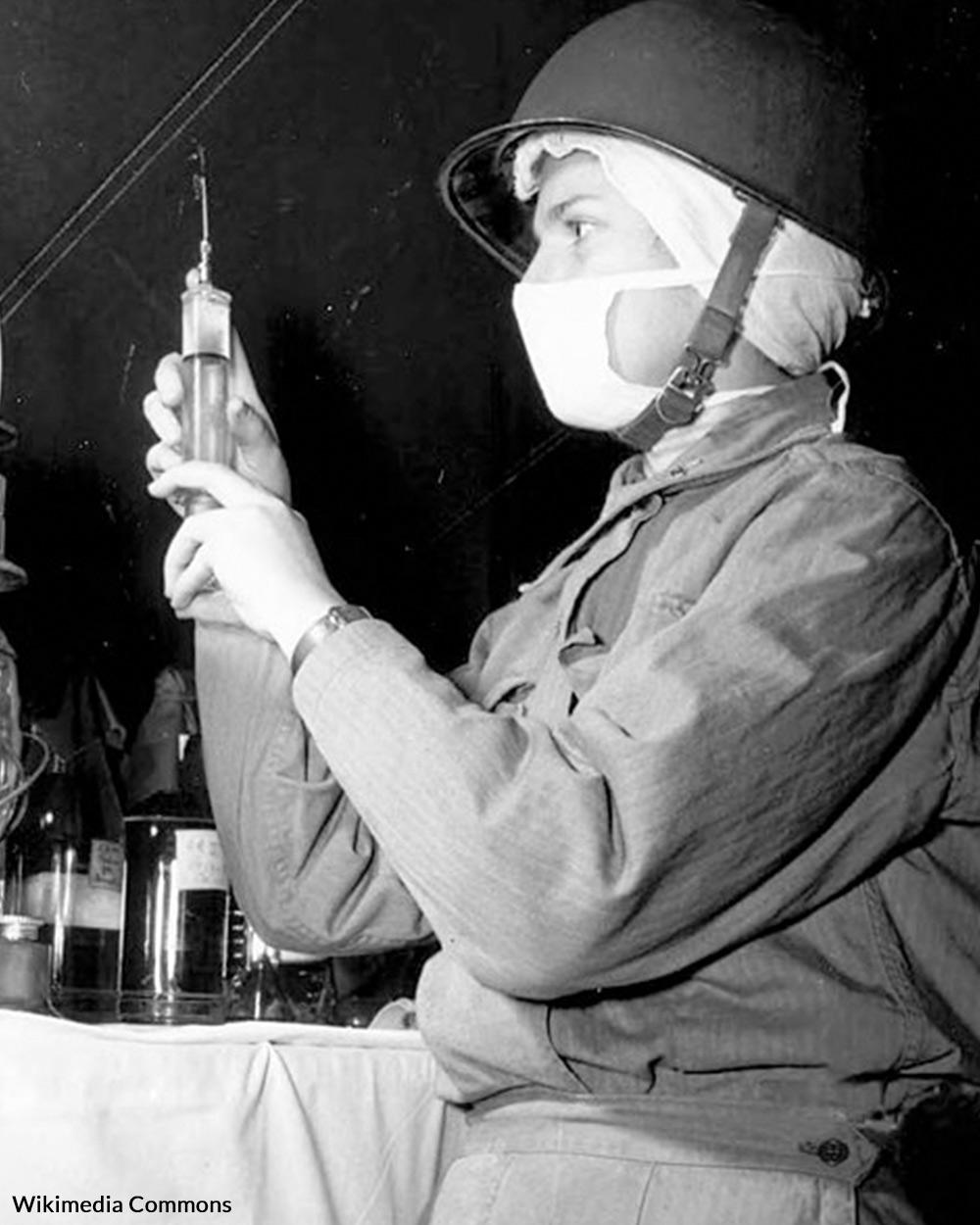 A nurse in WWII.