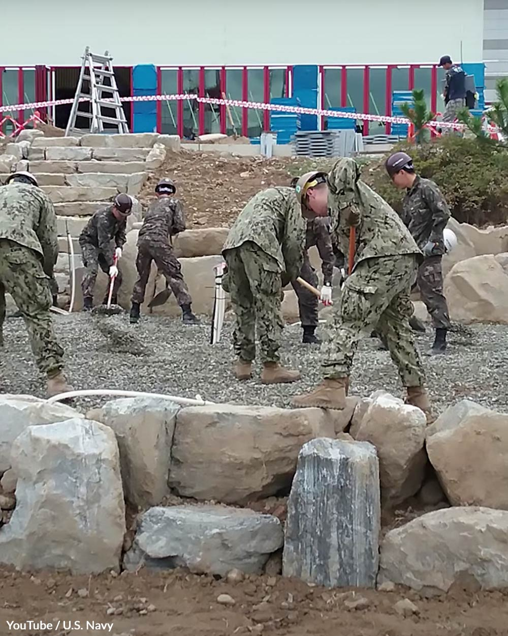 The Seabees are a construction battalion in the US Navy.