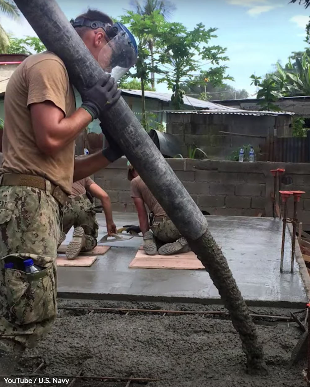 """The Seabees mottos are """"Can Do!"""" and """"We Build, We Fight!"""""""