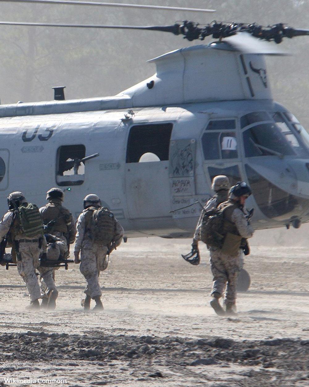 U.S. Marines respond to people in need around the world.